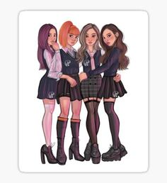 Blackpink stickers featuring millions of original designs created by independent artists. Cute Girl Drawing, Cartoon Girl Drawing, Girl Cartoon, Cartoon Art, Best Friend Drawings, Kpop Drawings, Blackpink Wallpaper, Disney Princess Fashion, Black Pink Kpop