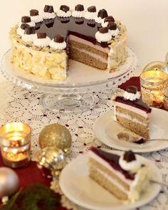 Grundrezept für Motivtorten: Victoria Sponge Cake, Buttercreme, Sirup und Ganache - Sugarprincess Diy Dessert, Mousse Fruit, Beaux Desserts, Cake Recipes, Dessert Recipes, C'est Bon, Finger Foods, Christmas Cookies, Food Cakes