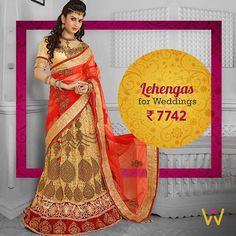 Your search for the perfect wedding outfit ends here at WedLista.com!  Leave everybody astonished by your Cream Designer Lehenga at the next wedding you attend!!! Product Code: 1815  #WedLista #FashionForWeddings  __  #bridalpotrait #bridal #lehenga #jewellery #LoveForFashion #WeddingWear #Onlineshopping #IndianWeddings #Bridallook #DesignerWear #LoveForEthnics #instagood #BridalDairies #Royal #BrideToBe #LehengaLovers #Dreamy #DesiBride #Bridallehenga #Bridalhairstyle #couture…