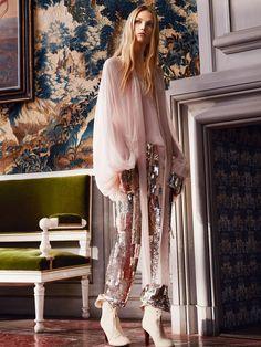 Chloé Metal Sequin Pants, Women's Ready To Wear | Chloé Official Website | 16APA3316A120