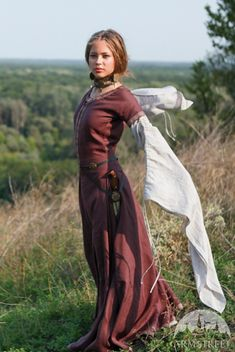 Medieval Linen Dress Archeress by armstreet on Etsy, $196.00