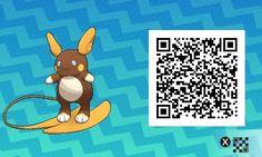 Pokémon Sol y Luna - 026 - Shiny Alolan Raichu Pokemon Moon Qr Codes, Code Pokemon, Pokemon Fan Art, My Pokemon, Pokemon Stuff, Pokemon Cards, Pokemon Cheats, Tous Les Pokemon, Pikachu