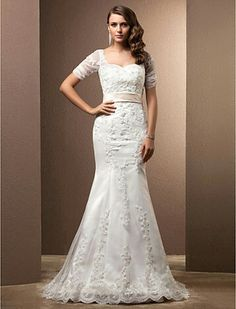 http://m.lightinthebox.com/Trumpet---Mermaid-Off-the-shoulder-Chapel-Train-Satin-Lace-Wedding-Dress--WGY0040-_p71418.html