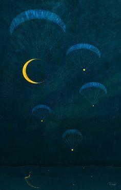 Cheque être possède dix mille mètres de ciel bleu sur sa tête.  •  Antoine de Saint-Exupéry.  Twilight by Patrycja Wróbel