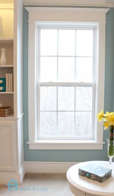 to Install Window Trim DIY: How To Add Trim Moulding To Your Windows - excellent DIY with very detailed pictures!DIY: How To Add Trim Moulding To Your Windows - excellent DIY with very detailed pictures! Interior Windows, Interior Trim, Bedroom Windows, Living Room Windows, Interior Design, Interior Architecture, Home Renovation, Home Remodeling, Moldings And Trim
