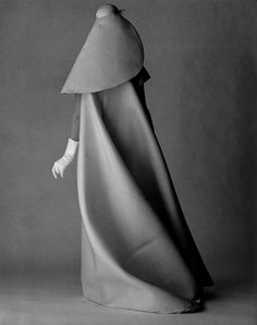 Balenciaga gown for Vogue's 1967 July issue photo - David Bailey