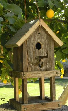 Rustic Birdhouse Feeder 264 by Forthebirdsandmore on Etsy