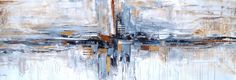 abstracto azul crema pintura acrílica pintura jolina