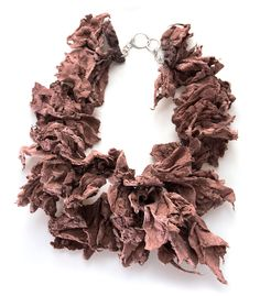 María Carelli Necklace: untitled, 2014 Paper, pigments, sterling silver From series: Watering seaweeds