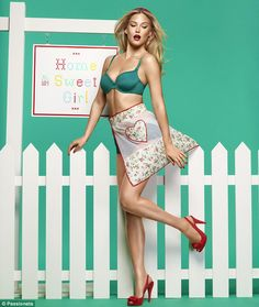 Bar 'catches' her apron in her white picket fence in the 'Home Sweet Girl' Passionata campaign