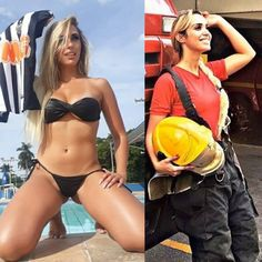 Female Firefighter, Girls Uniforms, Bikinis, Swimwear, Singer, Photo And Video, Instagram, Model, Beautiful