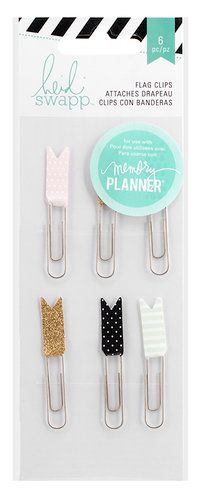 Heidi Swapp - Hello Beautiful Collection - Memory Planner - Flag Paper Clips, COMING SOON