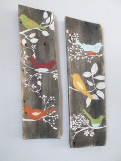 2 Relaimed Upcycled Country Custom Order Birds Rustic Shabby Chic Wall Decor Sign Wood on Etsy Shabby Chic Wall Decor, Shabby Chic Crafts, Shabby Chic Interiors, Rustic Shabby Chic, Shabby Chic Homes, Shabby Chic Furniture, Rustic Homes, Shabby Cottage, Cottage Chic