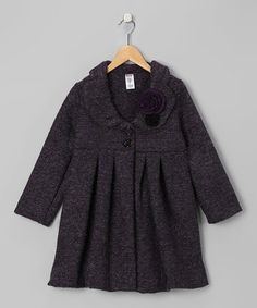 Take a look at this Double-Breasted Swing Coat & Pin by Blow-Out on #zulily today!
