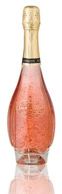 Flaschengeist Sparkling Rose Champagne With 24K Gold Leaf Flakes -ShazB