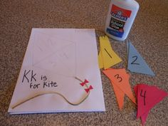 Kite Puzzle - but instead of matching numbers, have them match the printed number with that number of objects