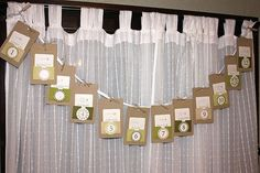Another advent garland idea. Could insert tags into the holders with messages or activities related to the 12 days of Christmas.