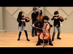 Joyous String Quartet has been playing together since 4 years old. 8 years old cellist Justin Yu (facebook.com/junjustinyu) appeared in the Ellen DeGeneres S...