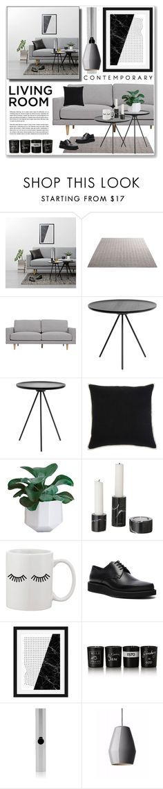 """""""grey"""" by nanawidia ❤ liked on Polyvore featuring interior, interiors, interior design, home, home decor, interior decorating, Signature Design by Ashley, ferm LIVING, Lanvin and Bella Freud"""