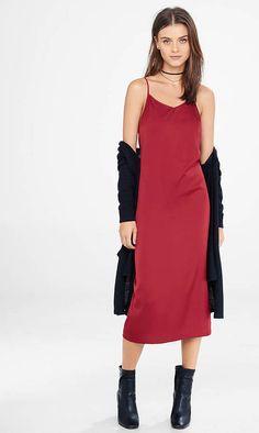 Brick Red Cami Slip Dress