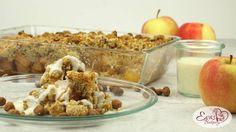 Apfel-Crumble mit reichlich Haselnüssen und Streuseln :)