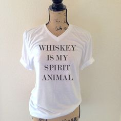 Whiskey is My Spirit Animal Shirt Whiskey by WildandFreeCoUSA