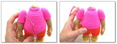 When they live their own lives...: How to sew arms to a crocheted toy and make them movable
