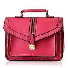 Retro Zipper and Hasp Design Women's Crossbody Bag