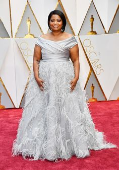Oscars 2017: All the Fashion Looks From the Red Carpet | Allure Octavia Spencer looked fabulous in this Marchesa gown.