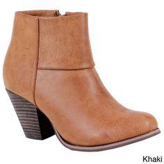 Reneeze Women's 'Baba-3' Stacked Chunky Heel Ankle Booties   Overstock™ Shopping - Big Discounts on Reneeze Booties