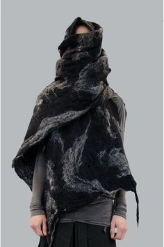 Like, if Joseph Beuys were a fashion designer | INAISCE limited edition wolf hair hand-felted scarf