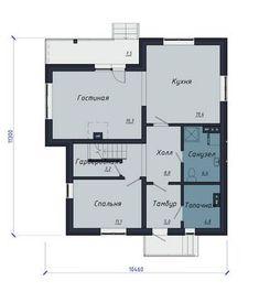 План 1-го этажа Catalog, Floor Plans, Projects, Log Projects, Blue Prints, Brochures, Floor Plan Drawing, House Floor Plans