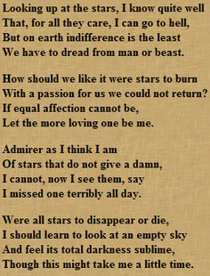 Dear W.H. Auden,    My god, you're brilliant.  What the heck,   Me.