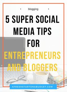 So check out these 5 social media tips for entrepreneurs and bloggers that are important for you to know to improve online Small Business Marketing, Content Marketing, Social Media Marketing, Online Business, Internet Marketing, Affiliate Marketing, Social Media Content, Social Media Tips, Social Networks