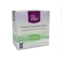LOT OF 4 POISE INTIMATE CLEANSING CLOTHS PKG OF 16 NEW IN BOX 64 sealed cloths #POISE
