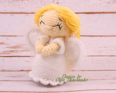 Small angel amigurumi. Very soft and fluffy. Ready to give warmth and love. Perfect gift for Valentines Day. Angel Doll Haight of only 12 cm Made by hand with love. Dolly will be a wonderful gift not only for the little girl, but also for your favorite girls. Doll is ready for shipment. But if you have the desire to buy an angel with a different color, I am always in touch and open to your suggestions. We can replace the color of the dress or the hair, or both. Deadline 2-3 days from the…