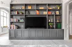 See our world-wide-web site for even more involving this excellent home office shelves Living Room Built Ins, Living Room Wall Units, Bookshelves In Living Room, Living Room Decor, Bookshelves With Tv, Home Office Design, Home Office Decor, Küchen Design, Interior Design