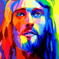 Jesus Christ Canvas Wall Art Home Decor Print Religion Religious Graffiti Jesus Artwork, Jesus Christ Painting, Portrait Art, Portraits, Jesus Drawings, Jesus Christ Images, Prophetic Art, Biblical Art, Jesus Pictures