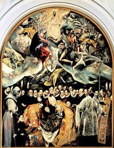 """""""The Burial of Count Orgaz"""" 1586 El Greco (Domenikos Theotkopoulos) Iglesia de Santo Tomé, Toledo Spain"""