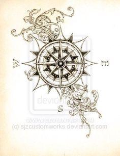 compass tattoo designs - Google Search