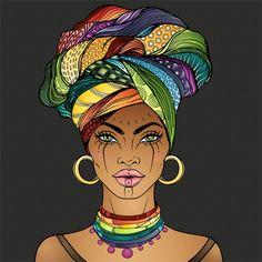 Black Love Art, Black Girl Art, Art Girl, Black Art Painting, Black Artwork, Afrique Art, African Art Paintings, Black Art Pictures, African American Art