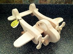 Hey, I found this really awesome Etsy listing at https://www.etsy.com/listing/152920011/wooden-push-toy-action-plane-toy-organic
