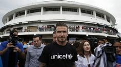 David Beckham visited the storm-devastated Philippine city of Tacloban on Thursday as part of UNICEF's relief efforts. The central city is still struggling to deal with the impact of super Typhoon Haiyan, which struck on Nov. 8, killing more than 6,200 people and leaving tens of thousands of survivors still homeless. Beckham was welcomed Thursday […]