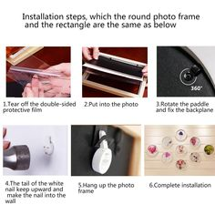 Installation steps Frame Wall Frame Wall Decor, Frames On Wall, Round Picture Frames, Wood, Pictures, Photos, Woodwind Instrument, Timber Wood, Trees