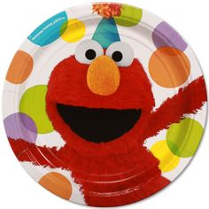 """9"""" Plate Elmo's Party"""