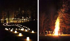 cool candle stuff and a bonfire