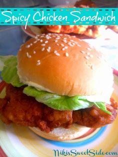 Spicy Chicken Sandwich from Niki's Sweet Side