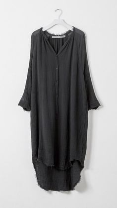 Raquel Allegra Poet Dress in Black | The Dreslyn