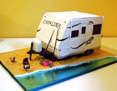 Camper cake beach and all