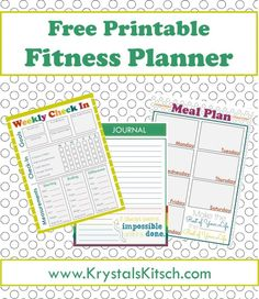 Download these free fitness journal and meal planning printables to get organized in a hurry. There's also simple meal plan recipe ideas! @gladproducts @walmart #pressnealhacks #pmedia #ad